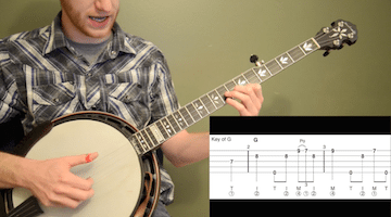 Amazing Grace (Up-The-Neck) Beginner Banjo