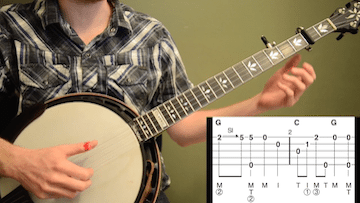 Cripple Creek (Basic Version) Beginner Banjo