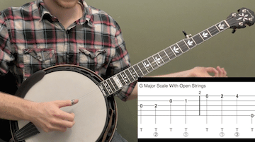 G Major Scale Exercises Beginner Banjo