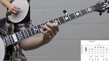 Up-The-Neck Scruggs Backup Lick #2 Intermediate Banjo