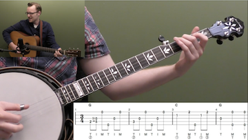 Amazing Grace (Backup) Beginner Banjo