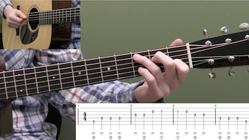 Basic C Major Scale Beginner Guitar