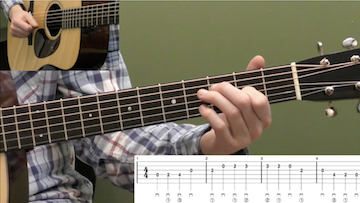 Basic D Major Scale Beginner Guitar