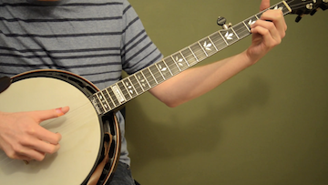 Bluesy Banjo Backup In D