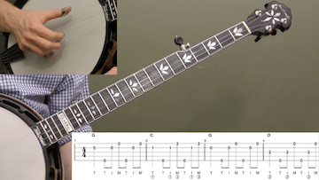 Boil Them Cabbage Down (Basic) Beginner Banjo