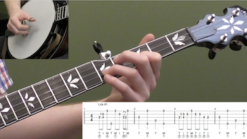 Converting Scruggs Style Licks To Single String Licks Intermediate Banjo