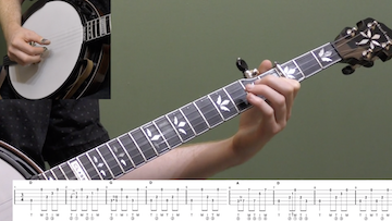 In The Pines (Backup) Intermediate Banjo