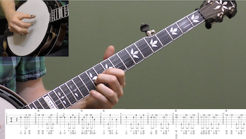 Swing Low Sweet Chariot (Up-The-Neck) Beginner Banjo
