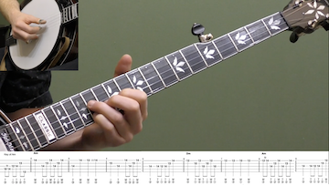 Wayfaring Stranger (Up-The-Neck) Intermediate Banjo